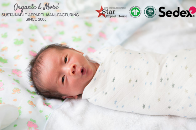 Muslin Swaddles Manufacturer, Muslin Baby Clothes Factory in India